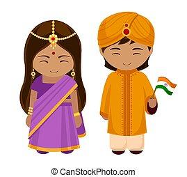 flag., 国民, インド人, 服