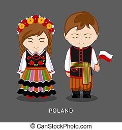 flag., 国民, ポーランド人, 服