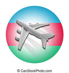 flag., 飛行機, アゼルバイジャン