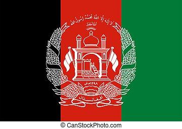 flag Afghanistan. Vector illustration