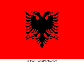 flag Albania. Vector illustration