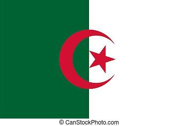 flag Algeria. Vector illustration