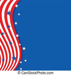 flag., américain, couleurs, fond