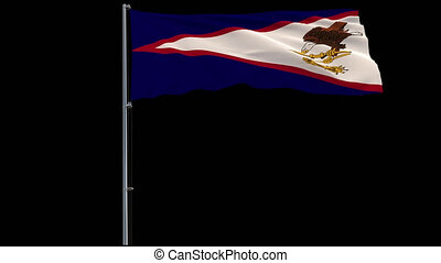 Flag American Samoa on transparent background, 4k prores...