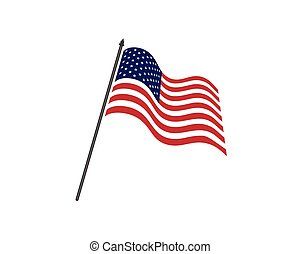 Flag american vector icon illustration