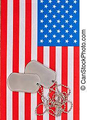 flag., americano, cane, stati uniti, etichette