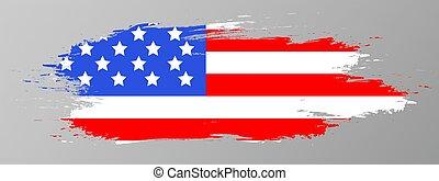 flag., amerykanka, wektor, illustration.