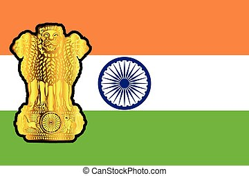 Flag And Emblem Of India