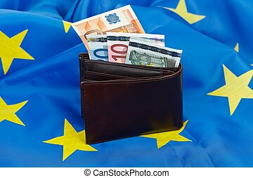 Flag and euro