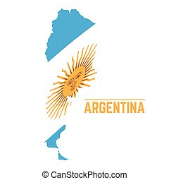 Flag and map of Argentina