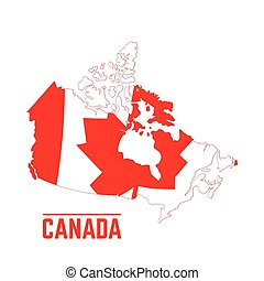 Flag and map of Canada
