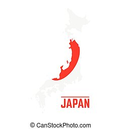 Stock Illustration Of Island Of Japan Map And Flag Island Of - Japan map flag