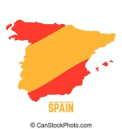 Flag and map of Spain