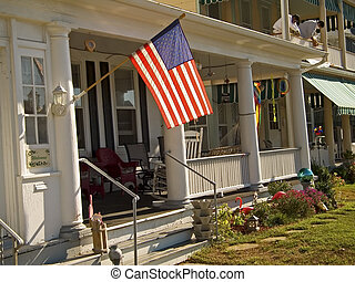 Flag and Porch