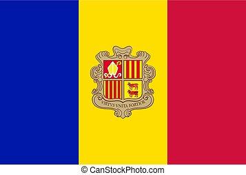 flag Andorra. Vector illustration
