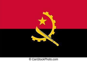 flag Angola. Vector illustration