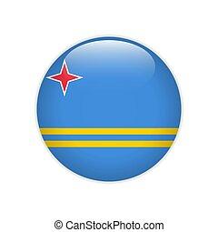 Flag Aruba button