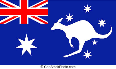 Flag Australia - Creative design of flag australia