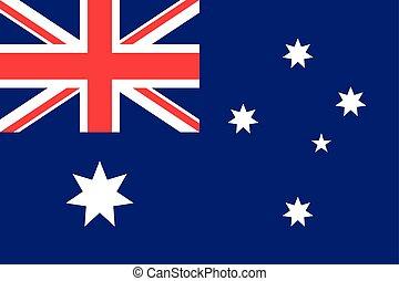 Flag Australia flat style. The icon of national symbol....