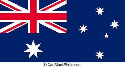 flag Australia. Vector illustration
