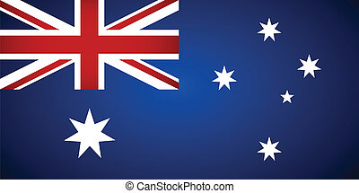 flag., australia, vettore, illustration.