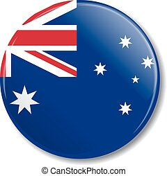 flag., australiano, vetorial, emblema, illustration.