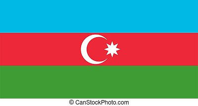 flag Azerbaijan. Vector illustration