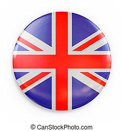 flag badge - Great Britain 3d illustration