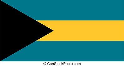 flag Bahamas. Vector illustration