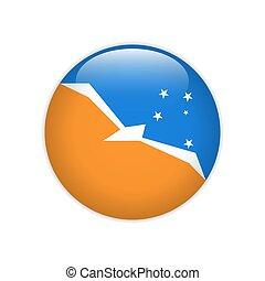 Flag Bandera de la Provincia de Tierra del Fuego on button
