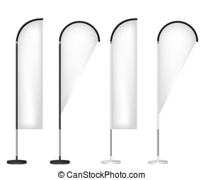 flag banner, stand, blank