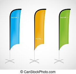 flag banner, stand