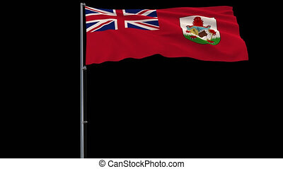 Flag Bermuda on transparent background, 4k prores 4444...