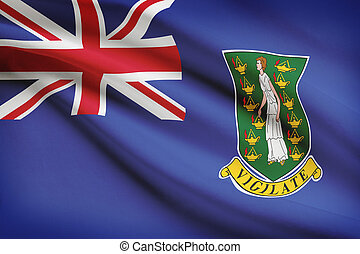 Flag blowing in the wind series - British Virgin Islands