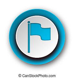 flag blue modern web icon on white background