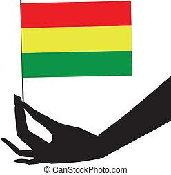 flag bolivia, hans, hånd