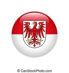 Flag Brandenburg button