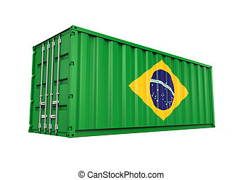 flag brasilien, beholder