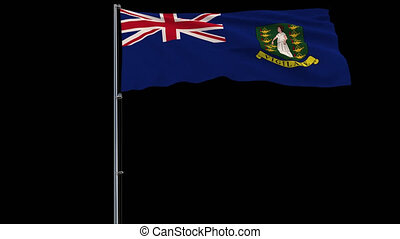 Flag British Virgin Islands on transparent background, 4k...