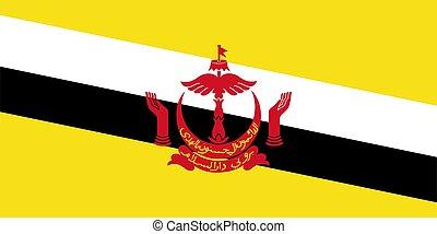 flag Brunei. Vector illustration eps 10