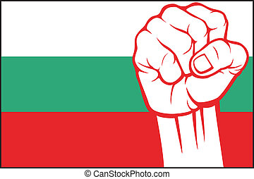 (flag, bulgaria), γροθιά , βουλγαρία