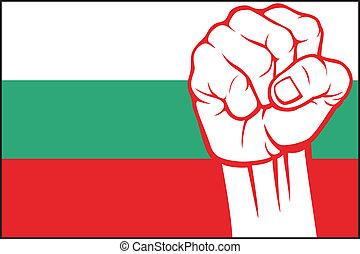 (flag, bulgaria), poing, bulgarie