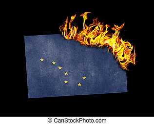 Flag burning - Alaska