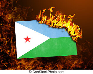Flag burning - Algeria