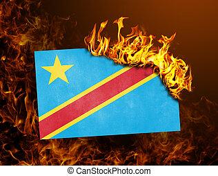 Flag burning - Congo