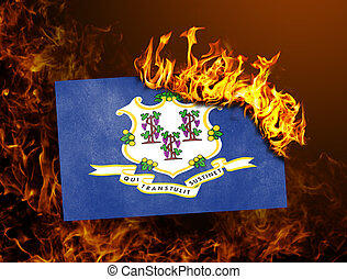 Flag burning - Connecticut