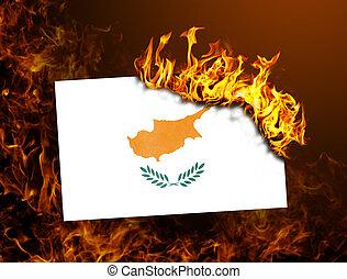 Flag burning - Cyprus