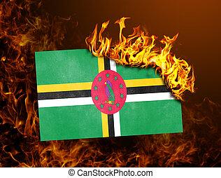 Flag burning - Dominica