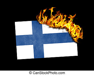 Flag burning - Finland - Flag burning - concept of war or...