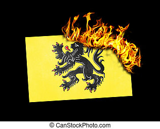 Flag burning - Flanders